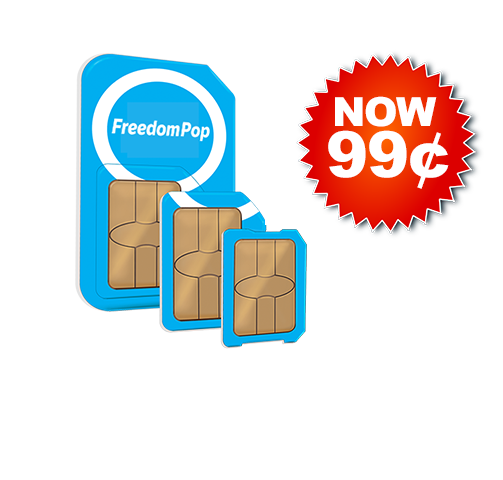 FreedomPop Global 3-in-1 SIM Kit Voice/Text/Data Bundle