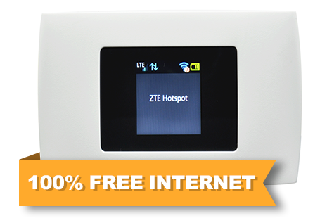 100% Free Wireless Internet +.
