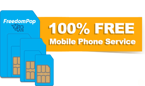 FreedomPop LTE SIM + 100% FREE Talk, Text, & 2GB Data